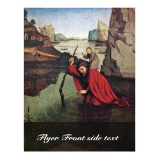 St. Christopher door Witz Konrad (Beste Kwaliteit) Gepersonaliseerde Folder