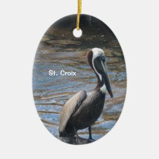 St. Croix Keramisch Ovaal Ornament