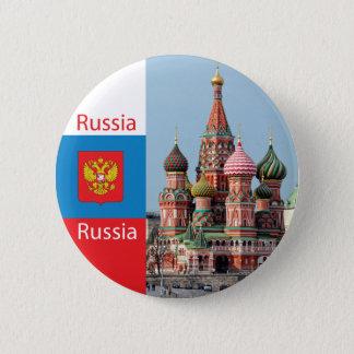 St. de kathedraal van het basilicum. Rusland Ronde Button 5,7 Cm
