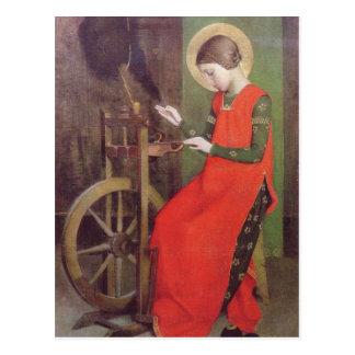 St Elizabeth van Hongarije door Marianne Stokes Briefkaart