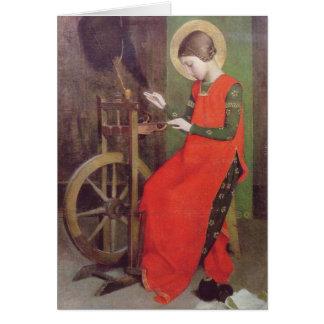 St Elizabeth van Hongarije door Marianne Stokes Kaart