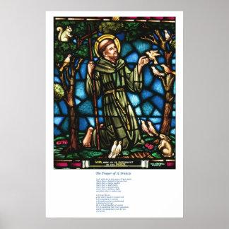 St Francis en St Francis Peace Prayer Poster