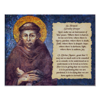 St Francis het Gebed van de Sereniteit Poster