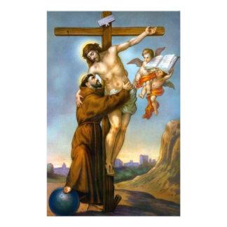 St. Francis Jesus Cross Angels World Briefpapier
