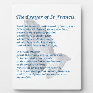 St Francis Prayer Fotoplaat