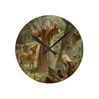 St. Francis van Assisi dat door Dieren wordt Ronde Klok