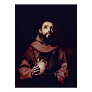 St. Francis van Assisi door Jusepe DE Ribera Poster