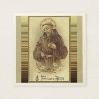 St. Francis van Assisi met de Lelies van het Papieren Servetten