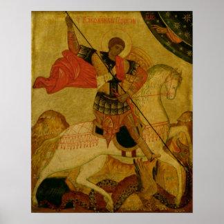St. George die de Draak doden Poster