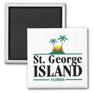 St George Island Florida Vierkante Magneet
