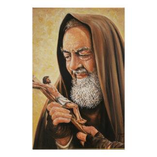 St. het Kruisbeeld van de Priester van Pio van de Briefpapier