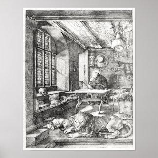 St. Jerome in zijn Studie, 1514 Poster