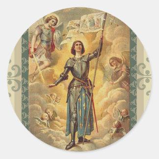 St. Joan van Boog St. Michael Angels Soldier Ronde Sticker