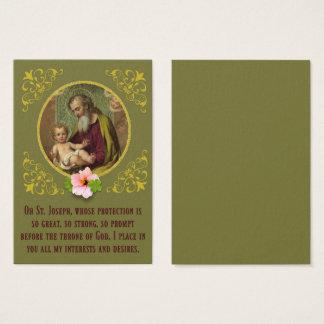 St. Joseph Baby Jesus Shamrock Flower Gebed Visitekaartjes