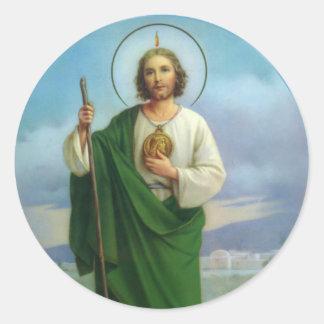 St. Jude de Neef van de Apostel van Jesus Ronde Sticker