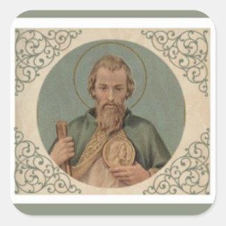 St. Jude de Neef van de Apostel van Jesus Vierkante Sticker