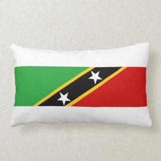 St.Kitts.en.Nevis de natiesymbool van de landvlag Lumbar Kussen