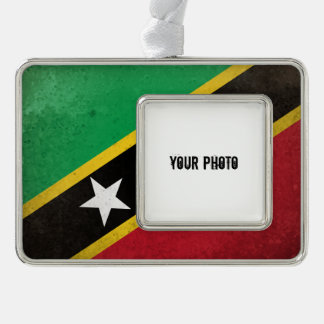 St.Kitts.en.Nevis Verzilverd Omlijst Ornament