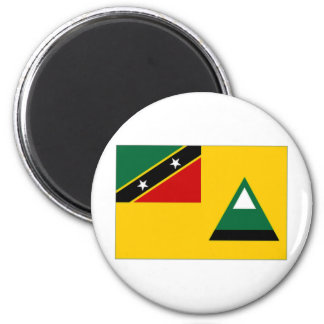 St Kitts Nevis Lokale Vlag Magneet