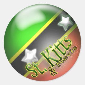St Kitts & Nevis Patriottische Sticker