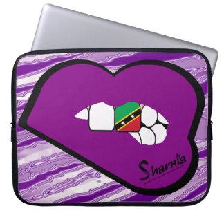 St Kitts van de Lippen van Sharnia Laptop de Computer Sleeve