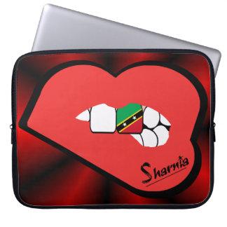 St Kitts van de Lippen van Sharnia Laptop Sleeve
