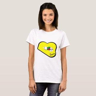 St Kitts van de Lippen van Sharnia T-shirt (Gele