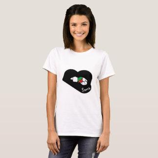 St Kitts van de Lippen van Sharnia T-shirt (Zwarte