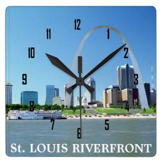 St.Louis RIVERFRONT Vierkante Klok