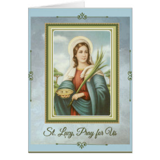 St. Lucy|Lucia Patroonheilige van de Kaart van