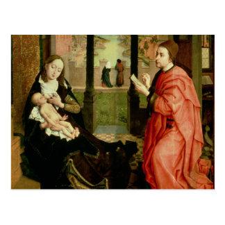 St. Luke die een Portret van Virgin trekken Briefkaart