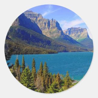 St. Mary Lake, het Nationale Park van de Gletsjer, Ronde Sticker