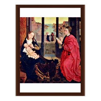St. Mary Lucas Paints By Weyden Rogier Bestelwagen Briefkaart