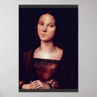 St. Mary Magdalene door Perugino Pietro Poster
