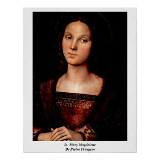 St. Mary Magdalene door Pietro Perugino Poster