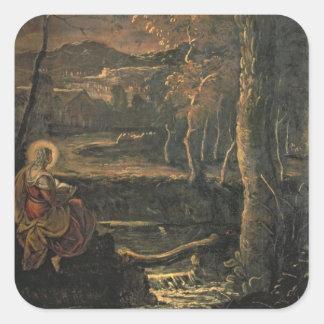 St. Mary van Egypte in de Wildernis Vierkante Sticker