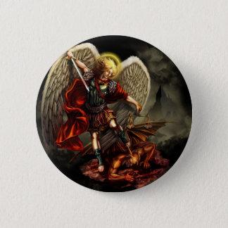 St. Michael de Aartsengel Ronde Button 5,7 Cm