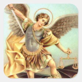 St. Michael het Pantser van het Zwaard van de Vierkante Sticker