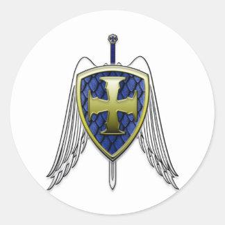 St Michael - het Schild van de Schaal van de Draak Ronde Sticker