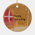 St. Mijter van de Waterverf Sinterklaas van de Dag Rond Keramisch Ornament