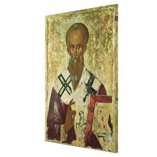 St. milde, veertiende-14th-15ste eeuw stretched canvas afdrukken
