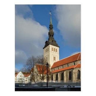 St. Nicholas Kerk, Tallinn, Estland Briefkaart