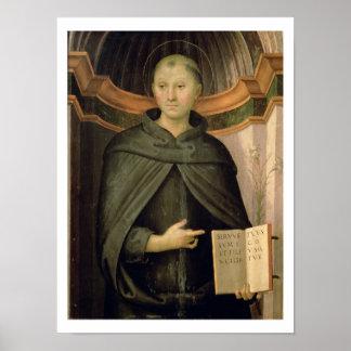 St. Nicholas van Tolentino (paneel) Poster
