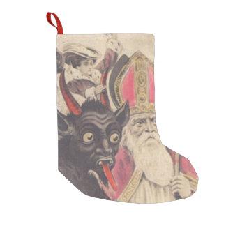 St Nickolaus van Krampus de Auto van de Mensen van Kleine Kerstsok