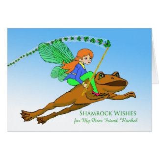 St. Patrick Dag voor Vriend, de Voorzijde van de Briefkaarten 0
