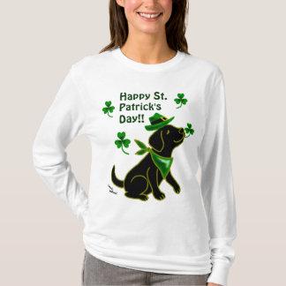 St. Patrick Day Black Labrador T Shirt