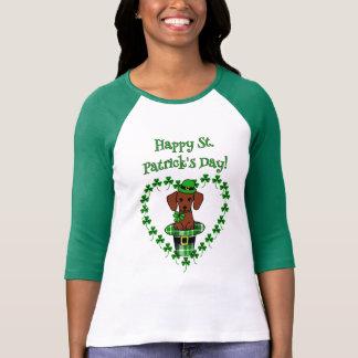 St. Patrick Day Dachshund Cartoon 1 T Shirt