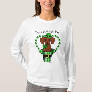 St. Patrick Day Dachshund Cartoon T Shirt