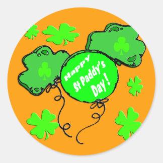 St Patrick de Ballons van de Dag Ronde Sticker