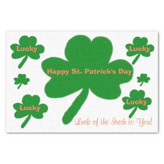 St. Patrick de Gelukkige Klavers van de Dag Tissuepapier
